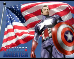 CAPTAIN AMERICA by commando-kev