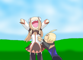 Marta Getting tickled by Emil by HeroHeart001