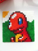 Charmander portrait - perler beadsv(updated) by Rest-In-Pixels