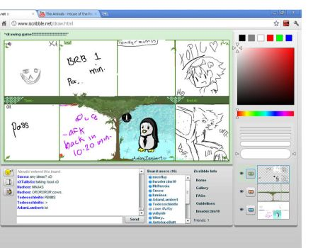 Penguin on iscribble by Invaderzim19
