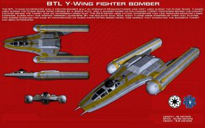 BTL Y-Wing (Clone Wars) ortho [New] by unusualsuspex