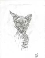 Zombi Cat by YannTheMad