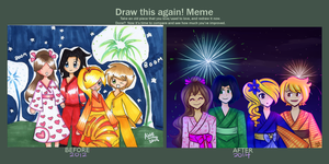Fireworks redraw meme by Angelwing8