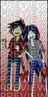 Bookmarks - Adventure Time: Marceline/Marshall Lee by agent-ayu