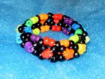 Black Rainbow Kandi Cuff by x-chocobo-x