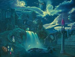 The Ruins at Night by Tolkyes
