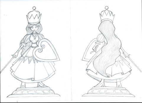 White queen (Chess Characters) by Doomsday90