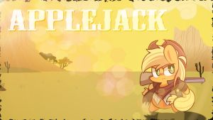 Sheriff Applejack - Wallpaper by Xris777