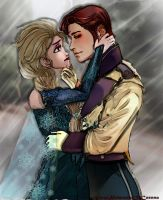 Thaw his frozen heart: Hans and Elsa by PrincessOfCorona