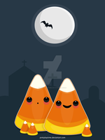 Candy Corn Halloween Card by pinkplaytime
