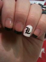 Death Note - L Nail Art by ineedacat9