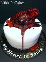 V-day Bleeding Heart Cake by Corpse-Queen