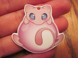 Mew Bubble plastic charms by Blazesnbreezes