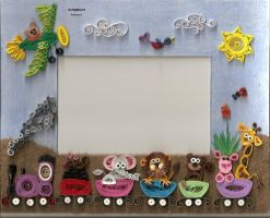 quilling picture frame by sombra33