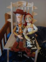 Woody and Jessie sitting by spidyphan2