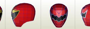 casco power ranger pepakura by joedme4