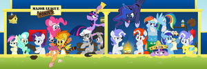 Major League Ponies by xHaZxMaTx