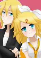 Rin and Len Kagamine - Gang of Kagamine by LadyGalatee