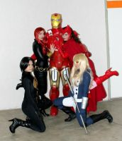 Iron Man and the girls xD by ThiagK