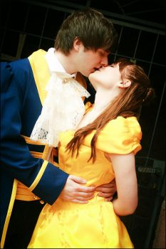 Belle and Prince Adam (Beauty and the Beast) by Blue-colibri