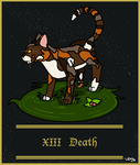 Warrior's Tarot Deck- XIII Death (Spottedleaf) by ShadowKitKat11