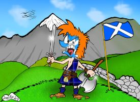if Bobo was a Scottish Warrior by Jamesf5