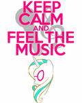 Keep Calm and feel the music (request) by thegoldfox21