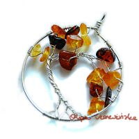 Amber tree pendant by OlgaC
