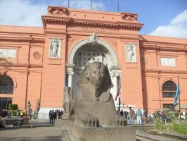 Entrance to Cairo Museum by Morethantoday