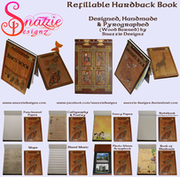 Handmade Refillable Hardback Books Journals by snazzie-designz