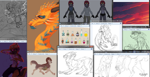 The wall of WIPs by LiLaiRa