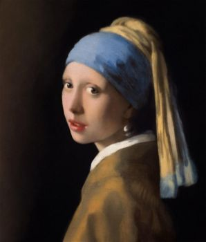 Johannes Vermeer. Digital Reproduction Girl with.. by Tylene