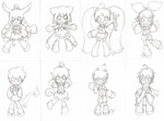 Chibi Lines Set 1 by SqueekyTheBalletRat