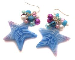 Pink and Blue Acrylic Stars by fairy-cakes