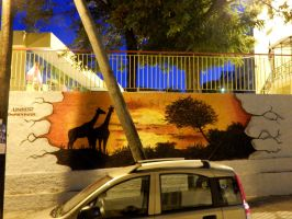 through the wall. by Unfor-street-arT