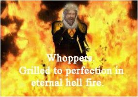 Burger King Hell fire. by Leon-87