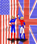 USUK Captain America and Captain Britain by BlueEmperorButterfly
