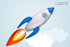 Rocket Icon by psdblast