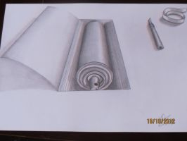 realistic draw made with a pencil by KsArt13