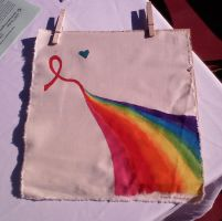 World AIDS Day Quilt Square by Emmalyn