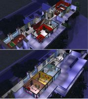 Sims 2 Hillside house by RamboRocky