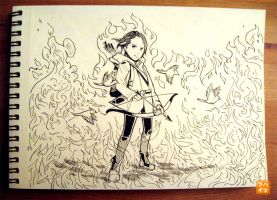 006: The Girl on Fire by 365-Hatsu