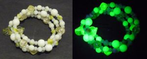 Lime cream bracelet by wombat1138
