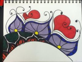 Abstract Flowers and Love by kiki-454