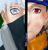 kakashi and obito by xSunRay