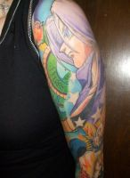 Dragonball Z Sleeve Tattoo by ILoveTrunks