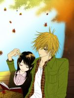 Lovers in Fall - Dengeki Daisy by OtakuRi