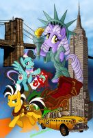 Big Apple Ponycon poster (No text) by tygerbug