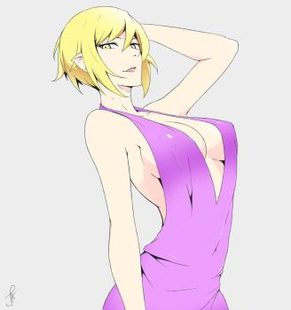 Kiss Shot With Short Hair by J-Adsen