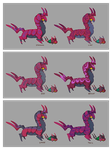 Venipede and Scolipede Variations by CoryKatze